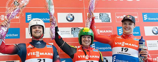 1. Platz beim Weltcup in Lillehammer